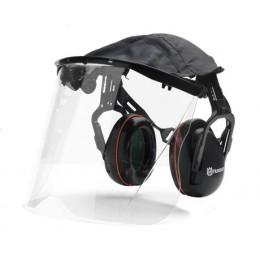 Ochronnik słuchu+twarzy(pleksi HQV z daszkiem)